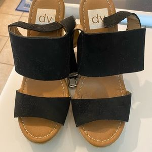 Black Dolce Vita wedges size 7